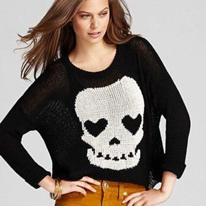 Vintage Havana Black Skull Knit Sweater Medium